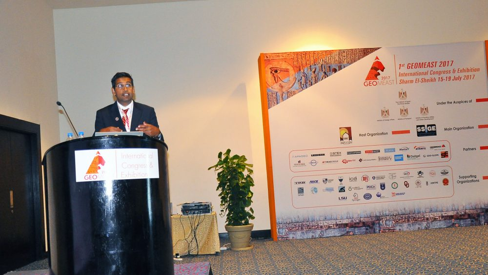 Dr. Yusuf Mehta, CREATEs Director, presented at the GeoMEast 2017 Conference in Sham El-Sheikh, Egypt on July 19, 2017