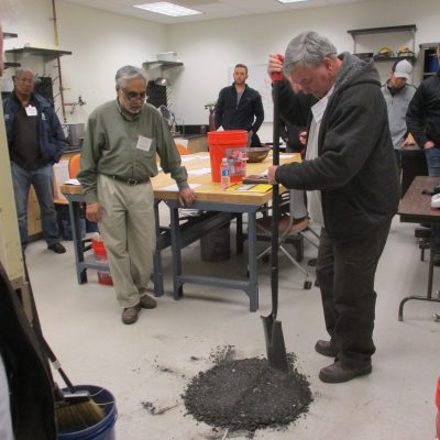 Soil and Aggregate Certification Program students